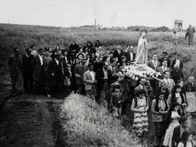 Procesión Virgen de Fátima (1952). Autor desconegut/AHS.