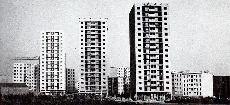 Foto portada: el barrio de Espronceda, en construcción.