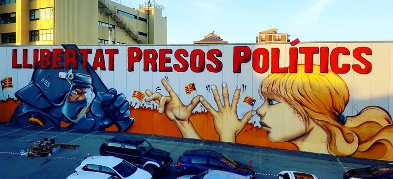 Foto portada: el mural. Autor: @CDRSabadell via Twitter.