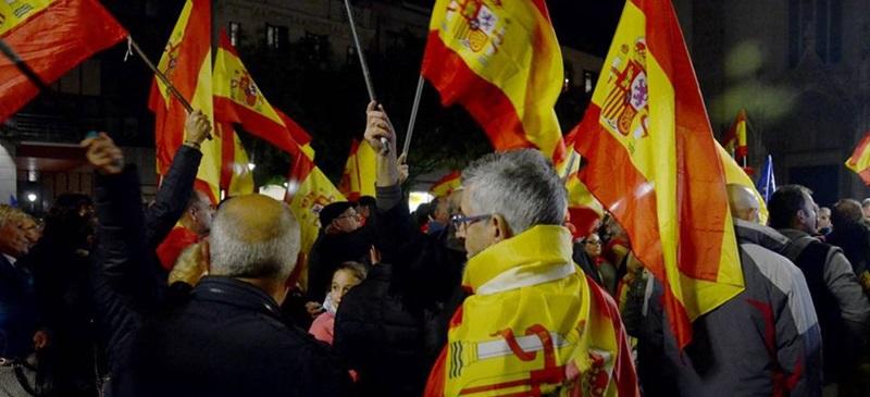 Foto portada: concentració unionista aquest divendres a Sabadell. Autor: David B.