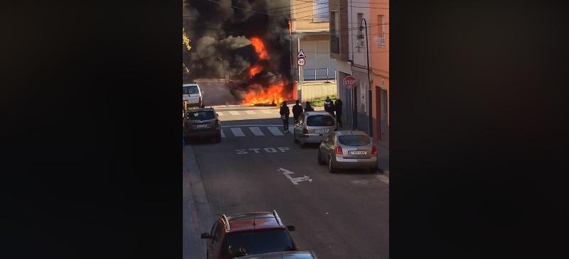 fotograma de l'incendi. Autora del vídeo: Noelia Arribas via Facebook.