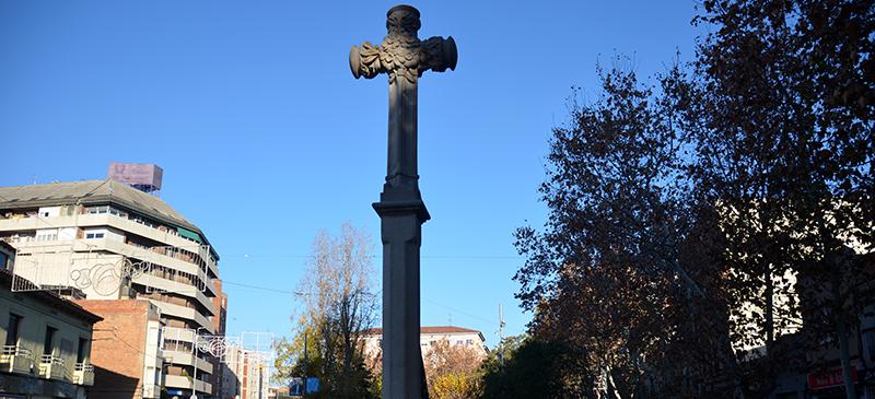 Foto portada: la Creu de Barberà, aquest matí. Autor: David B.
