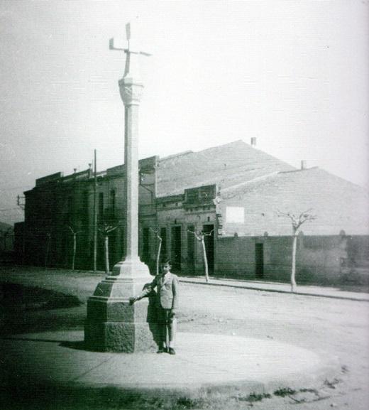 Creu de Barberà en la década de 1940 antes de la anexión. Autor: Miquel Soley