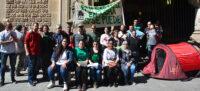 Foto portada: roda de premsa de la PAH Sabadell d'aquest divendres. Autor: David B.