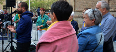 Foto portada: intervenció dePol Leiva, nebot de Jordi Cuixart. Autor: David B.