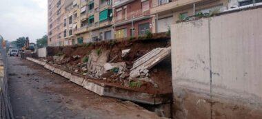 Foto portada: estat del mur, després de caure parcialment. Autor: cedida.