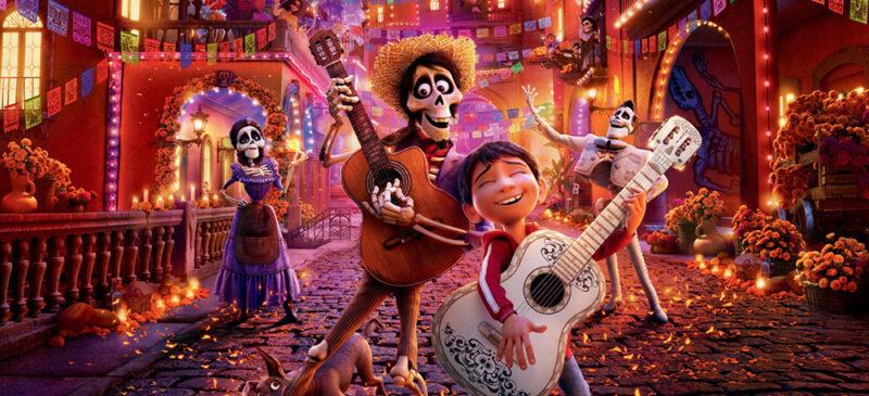 Fotograma de la película d'animació de Disney, Coco.