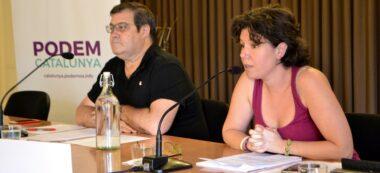 Foto portada: Ramon Vidal i Marta Morell, a la sala d'actes del casal Pere Quart. Autor: J.d.A.