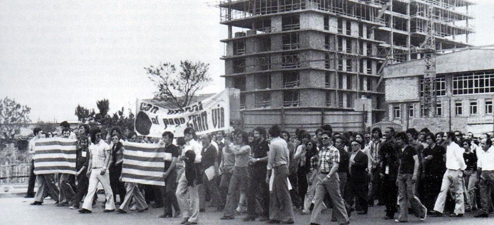 Manifestación en contra de la Gran Vía.