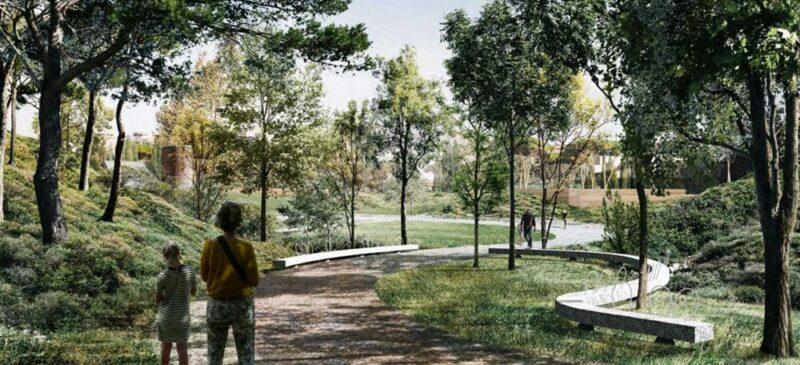 Foto portada: maqueta del futur Parc del Nord.
