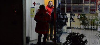Guillermo entrant a la seu de Creu Roja. Autor: David B.