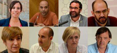 Foto portada: els alcaldables Farrés, Berlanga, Fernàndez, Serracant, Ciuró, Hernández, Martínez i Gesa.