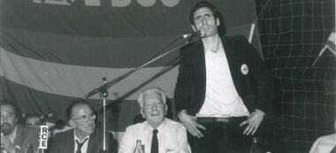 Miting Toni Farrés i Santiago Carrillo. Autor: Pere Farran.