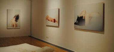 Algunes de les fotografies de Montse Mármol al Museu d'Art de Sabadell. Autor: R. Cañadas