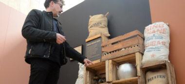 Sergi Freixes en la mostra el Farcell de la Postguerra. Autor: David B.
