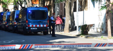 Desnonament i detencions al carrer Brutau. Autor: David B.