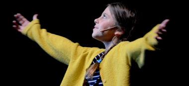 Jana, la protagonista de la història en un dels assaigs.