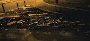 Foto portada: contenidor cremat al Poblenou de la Salut. Autor: cedida.