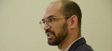 Maties Serracant en la roda de premsa de valoració de mandat. Autor: David B.