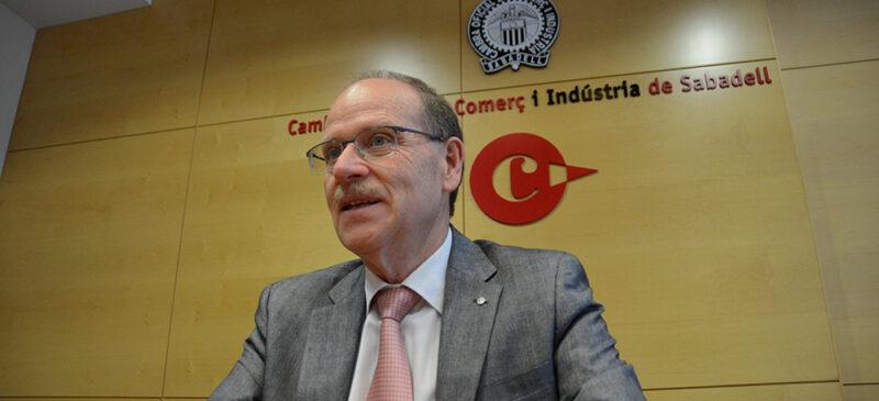 President de la Cambra de Comerç de Sabadell, Ramon Alberich. Autor: David B.