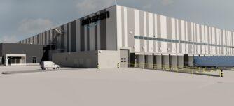 Una imatge renderitzada del projecte del nou centre d'Amazon.