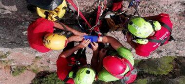 Foto portada: simulacre del rescat a Sant Llorenç. Autor: Bombers.