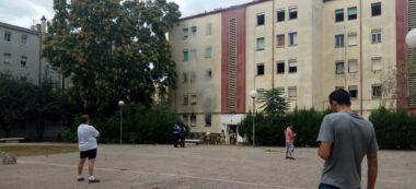 Foto portada: un moment de l'incendi. Autor: F.Garcia / cedida.