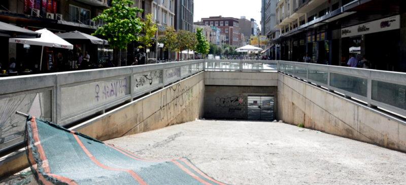 Aparcament soterrat del Passeig. Autor: David B.