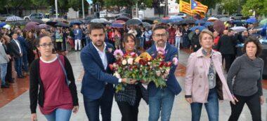 Foto portada: Anna Lara (Crida), Pol Gibert (PSC), Marta Farrés, Gabriel Fernàndez (ERC), Lourdes Ciuró (Junts) i Marta Morell (Podem). Autor: J.d.A.