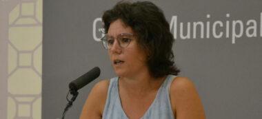 Marta Morell presentant moció. Autor: M.Capdevila