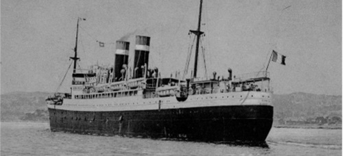 Foto portada: el vaixell, vapor francès, Sinaia, en el qual van viatjar els Burguès-Padrós a Mèxic, del 26 de maig al 13 de juny de 1939 (Postal de l'Arxiu familiar d'Heidi Burguès Padrós, AHS).