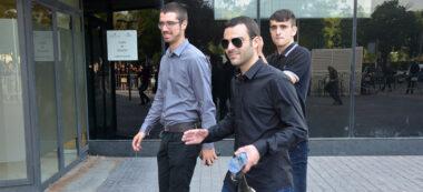 Membres del SEPC acusats, entrant als Jutjats. Autor: David B.