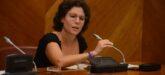 La portaveu de Podem, Marta Morell, al ple, aquest dimecres. Autor: David B.