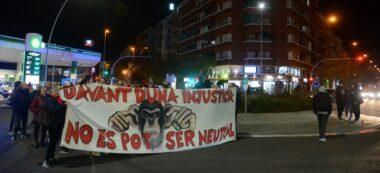 Foto portada: la manifestació, a la rotonda de la carretera de Terrassa amb Ronda Ponent. Autor: David B