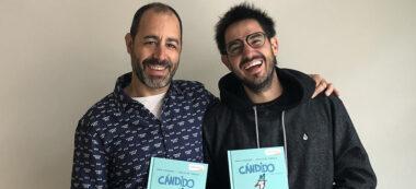 Christian Inaraja (esquerra; il·lustració) i Fran Pintadera (dreta; text), són els autors de 'En Càndid i la resta'. Autor: cedida.