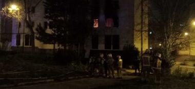Foto portada: el foc, dimecres a la nit. Autor: AAVV Merinals / cedida.