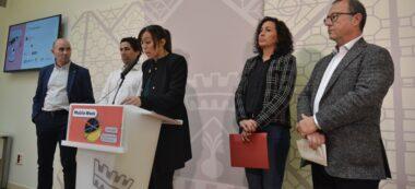 Foto portada: representants de la UAB, la Cambra, l'Ajuntament (l'alcaldessa Marta Farrés i la tinenta d'alcaldessa Montse González), i el Parc Taulí, aquest matí. Autor: J.d.A