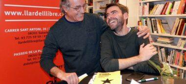 Josep Ma Roviralta i David Vila i Ros, a La Llar del Llibre. Foto: cedida.