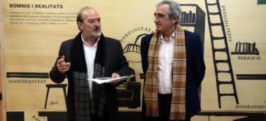 Foto portada: El regidor d'Educació Manuel Robles i el diputat d'EducacióAlfredo Vega, en la presentació de l'exposició. Autor: David B.