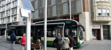 Placa solar en parada de bus al Passeig. Autor: David B.