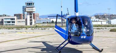 Foto portada: l'helicòpter, aquest dissabte. Autor: @aeroclubbs via Twitter.
