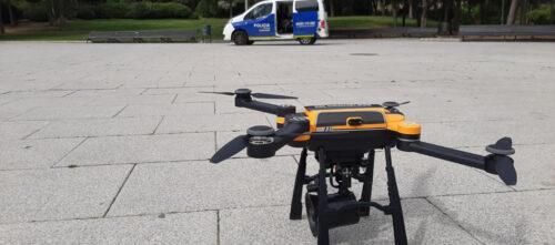 Aspecte del dron, aquest dissabte. Autor: Cedida.