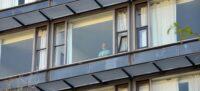 Foto portada: l'hotel Verdi, reconvertit en hospital temporal. Autor: David B.