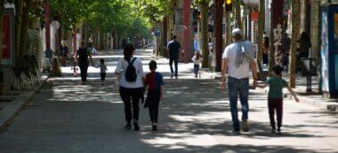 Foto portada: la Rambla, aquest diumenge de desconfinament infantil. Autor: David B.