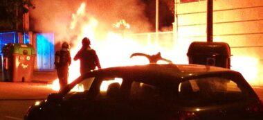 Foto portada: incendi de contenidors al carrer Balmes. Autor: cedida.