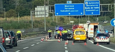 Foto portada: Accident a la C-58. Autor: @antiradarcatala via Twitter.