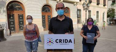 Maties Serracant, Nani Valero i Anna Lara, de la Crida per Sabadell. Autora: Irene Juárez