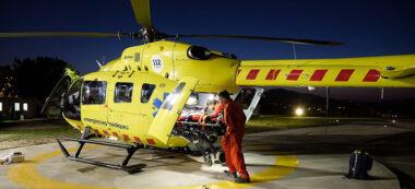 helicopter medicalitzat nocturn. Autor: Cedida.