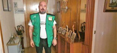 Foto portada: Vicente García, el venedor de l'ONCE. Autor: cedida.