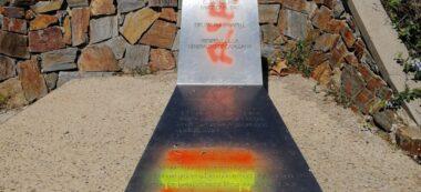 Foto portada: monòlit a Lluis Companys, al parc de Catalunya. Autor: ERC via Twitter.